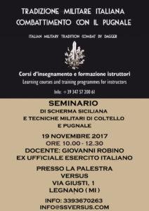 SEMINARIO DI TRADIZIONE MARZIALE ITALIANA A LEGNANO