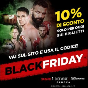 L'INCASSO DI BELLATOR GENOVA IN BENEFICENZA E BLACK FRIDAY SUI BIGLIETI